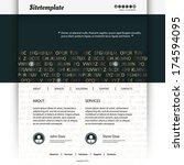 website template design with...   Shutterstock .eps vector #174594095