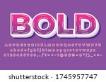 3d digital lettering font with... | Shutterstock .eps vector #1745957747