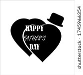 vector happy fathers day... | Shutterstock .eps vector #1745966354