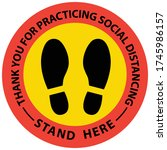 social distancing concept for... | Shutterstock .eps vector #1745986157