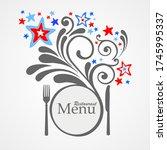 restaurant menu card design.... | Shutterstock .eps vector #1745995337