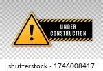 under construction sign.... | Shutterstock .eps vector #1746008417