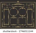 set of art deco gold...   Shutterstock .eps vector #1746011144