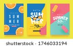summer sale background layout... | Shutterstock .eps vector #1746033194