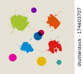 colorful  blots  splashes on... | Shutterstock . vector #174603707