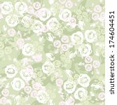 seamless pattern with roses.... | Shutterstock .eps vector #174604451