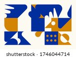 modern artwork of abstract... | Shutterstock .eps vector #1746044714