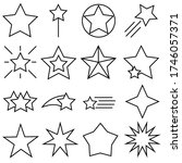 star line vector icons set.... | Shutterstock .eps vector #1746057371