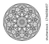 mandalas for coloring book.... | Shutterstock .eps vector #1746058457