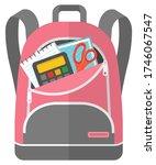 colored school backpack.... | Shutterstock .eps vector #1746067547