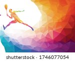 creative silhouette of squash... | Shutterstock .eps vector #1746077054