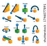 prepositions of movement for... | Shutterstock .eps vector #1746077891