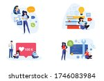 flat design style illustration... | Shutterstock .eps vector #1746083984