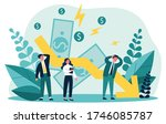 people facing financial crisis... | Shutterstock .eps vector #1746085787