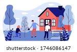 happy people doing garden works....   Shutterstock .eps vector #1746086147