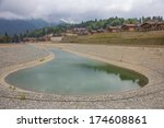 Artificial Pond In Ski Resort ...