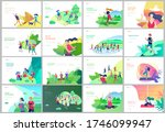 landing page template with... | Shutterstock .eps vector #1746099947