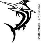 atlantic blue marlin swimming... | Shutterstock .eps vector #1746100061