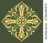 cross doodle sketch color... | Shutterstock .eps vector #1746100574