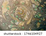 Abstract Marbling Floral...