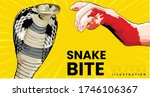 snake bite on arm cobra snake... | Shutterstock .eps vector #1746106367