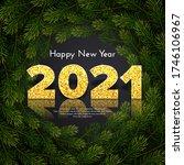 2021 golden numbers with... | Shutterstock .eps vector #1746106967