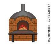 fireplace vector icon.cartoon... | Shutterstock .eps vector #1746125957