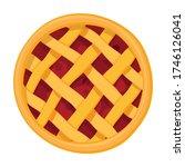 cake top view vector icon... | Shutterstock .eps vector #1746126041