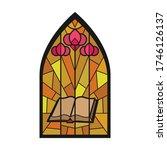 church window vector icon... | Shutterstock .eps vector #1746126137