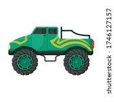 monster truck vector icon... | Shutterstock .eps vector #1746127157