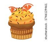 cupcake vector icon.cartoon... | Shutterstock .eps vector #1746129461