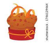 cupcake vector icon.cartoon... | Shutterstock .eps vector #1746129464