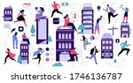 reopen economy after pandemic...   Shutterstock .eps vector #1746136787