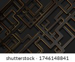 black geometric tech paper... | Shutterstock .eps vector #1746148841