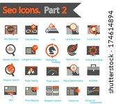 seo icons set part 2 | Shutterstock .eps vector #174614894