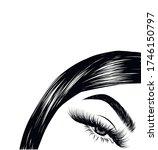 modern sleek hairstyle of a...   Shutterstock .eps vector #1746150797