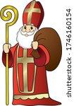 saint nikolaus illustration as... | Shutterstock .eps vector #1746160154