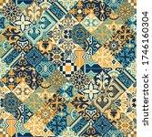 azulejos tiles diagonal... | Shutterstock .eps vector #1746160304