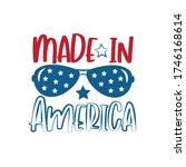 made in america   happy... | Shutterstock .eps vector #1746168614