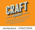chisel style alphabet design... | Shutterstock .eps vector #1746172934
