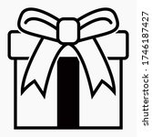 box with a gift. box with a... | Shutterstock .eps vector #1746187427