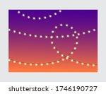 christmas lights on rope... | Shutterstock .eps vector #1746190727