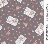 seamless pattern with letters... | Shutterstock .eps vector #1746198977