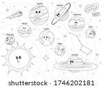 solar system cartoon planets... | Shutterstock .eps vector #1746202181