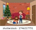 background scene man bullying... | Shutterstock .eps vector #1746217751