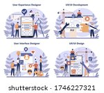 ux ui designer concept set. app ...