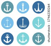 vector set of color circle... | Shutterstock .eps vector #1746230264