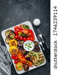 Grilled Vegetable Platter With...