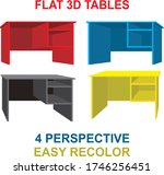 tables flat 3d easy recolor... | Shutterstock .eps vector #1746256451
