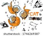 cat in space. cute typographi... | Shutterstock .eps vector #1746269387